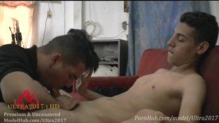 Sucking dick of my step cousin when my parents are out.