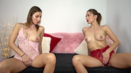 Beautiful Twin StepSisters Masturbate Together - 4K