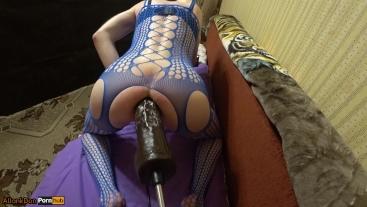 Insatiable big ass with sex machine