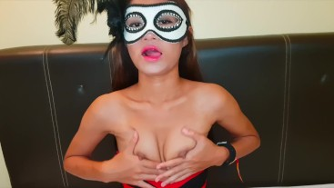 Young Thai Teen play herself - nice tiny tits