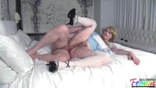 submissive sissy Chloe gets railed by her dream guy Masturbation webcam