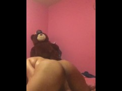 Fine Young Ebony Chick Takes and Rides Big White Dick