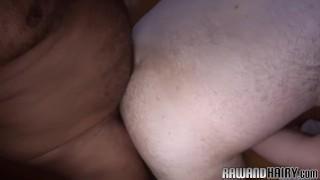 Chubby black bear rims his hairy lover Blonde blackgangwhitebang.com