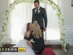 Brazzers – Husband and bride to be get shared by hot milf