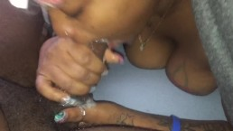 Young ebony sucking BBC