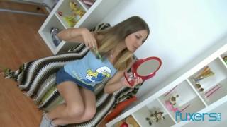 Cute teen gaping anal