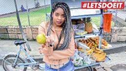 LETSDOEIT - Ebony Latina Tricked Into Sex By Horny Students