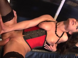 The Brunette Can Barely Fit This Old Mans Girthy Cock In Her Tight Pussy