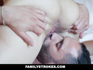 FamilyStrokes – Stepsiblings Having Family Style Fuck Sesh With Stepmom