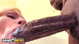 BANGBROS - Sexy Assistant Jamey Janes Rides Rico Strong's Big Black Dick