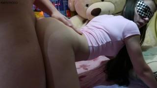 Asian Schoolgirl Gets Hard Doggystyle and Cum On Her Back - MaryVincXXX