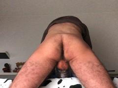 Amateur Guy Moaning While Creampie Fleshlight - 4K
