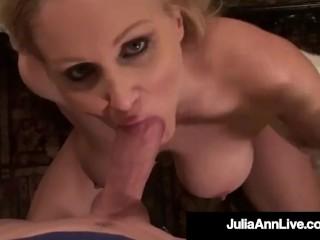 World Famous Milf Julia Ann Titty Fucks A Big Hard Cock!