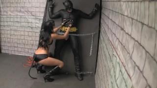 Cat Woman Has Bat Man Bound - Sexy Tease Parody