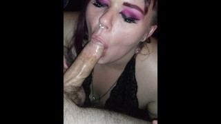 Il miglior porno - Redhead Bbw Submissive Whore Choking And Deepthroating Married Mans Bwc