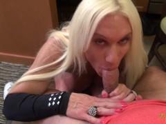 Female Bodybuilder Porn Star Ashlee Chambers POV Blowjob