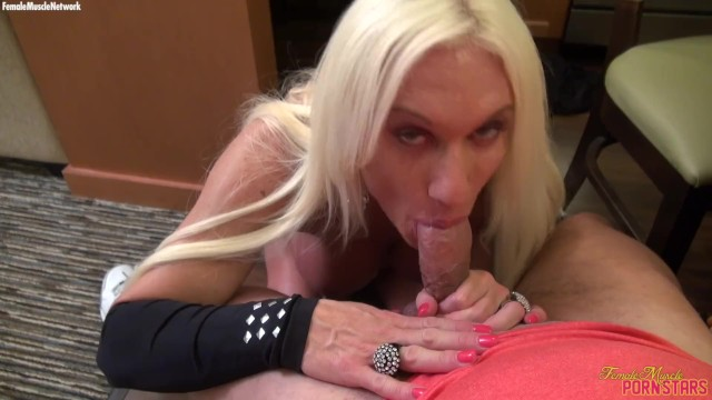 Muscular femal porn star - Female bodybuilder porn star ashlee chambers pov blowjob