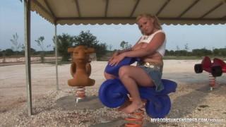 Busty Teen Malina May public naked