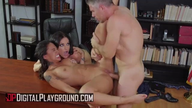 Digital Playground – Greedy biitches Honey Gold and Kissa Sins share big co