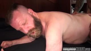 Chubby bear duo assfucking bareback Clitoris dick
