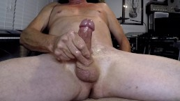 Stroking My Cock With High Flying Cumshot