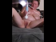 Sexywifey squirts and licks it up