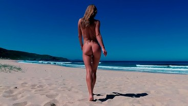 TRAVEL NUDE - Naked girl on a public beach Doniños Spain / Sasha Bikeyeva