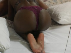 Gorgeous Ebony Teen has a Perfect Ass and Creamy Pussy