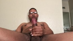 "Chubby College Otter ""You wanna watch me cum?"" while jerking"