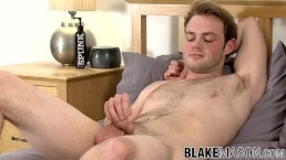 Stud Ty Bamborough interviewed before masturbation
