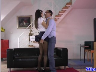 Preview 1 of Amateur babe seduces horny pensioner