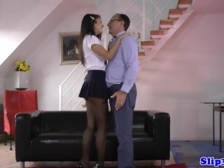 Preview 2 of Amateur babe seduces horny pensioner