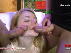 Sweet Karen extreme bukkake gangbang - German Goo Girls