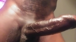 Black Uncut Daddy Hunge Cock Talking Aggressive Stroking Solo.