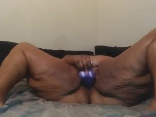 Caught Stepmom Masturbating Mrs. Meaty And Her Big Purple Dildo