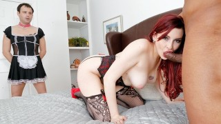 Amber Ivy Humiliates Her Cleaning Bitch Husband