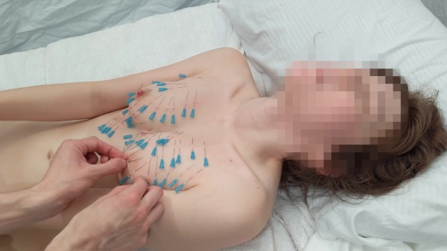 Painful female masturbation