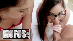 MOFOS - Two nerdy teens share stepbothers cock