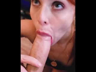 Penis Sleeve Porn Hot Redhead Instagram Teen Sucking Cock After Gym! Babe Blowjob Cumshot Fetish