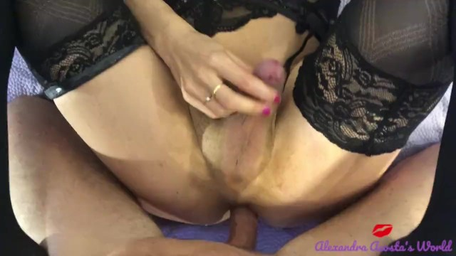 Transsexual louisville Transsexual in lingerie sucking cock close up