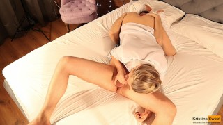 69, Doggystyle, Reverse Cowgirl and Cum in Mouth! Young Girl Kristina Sweet Facial dp