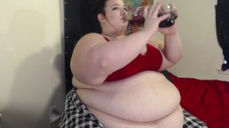 SSBBW Chugging and Burping | 2-Liter Soda Bloat | Veronika Jade