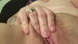 Finger fucking my pussy, juicy and wet