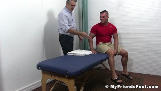 Tickling bound receives a stud torment muscular myfriendsfeet beef