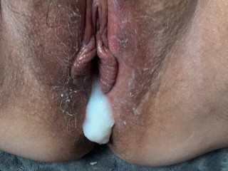 Thick Sexy Naked Women Pov Fucking, Creampie, Then Wife Vibrates Her Wet Hairy Pussy To