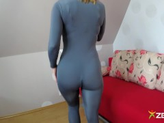Lycra Catsuit with front zipper