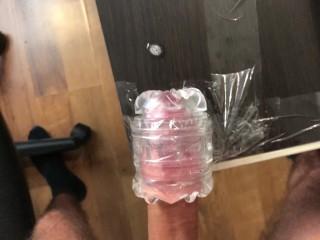 Moaning Amateur Guy Slowly Fucking Fleshlight Huge Load – 4K