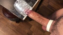 Moaning Amateur Guy Slowly Fucking Fleshlight Huge Load - 4K