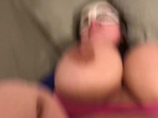 Big tittie Milf gets fucked missionary!!POV