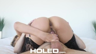 HOLED Anal addict TRIES to fit big dick in her tight ass